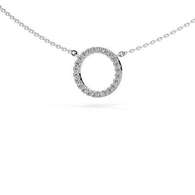 Picture of Pendant Circle 925 silver zirconia 1.2 mm
