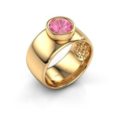 Foto van Ring Klarinda 585 goud roze saffier 7 mm