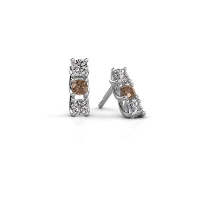 Picture of Earrings Fenna 925 silver brown diamond 0.60 crt
