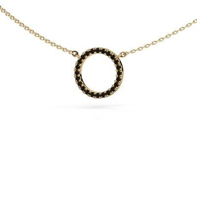 Bild von Anhänger Circle 585 Gold Schwarz Diamant 0.216 crt