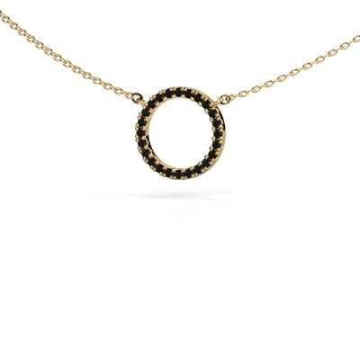 Picture of Pendant Circle 585 gold black diamond 0.216 crt