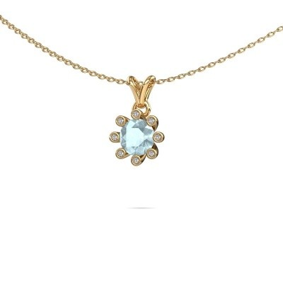 Picture of Pendant Carola 3 585 gold aquamarine 6 mm
