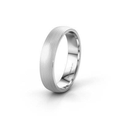 Trouwring WH0100M25AM 585 witgoud ±5x1.7 mm