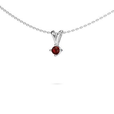 Picture of Necklace Jannette 950 platinum garnet 3.7 mm