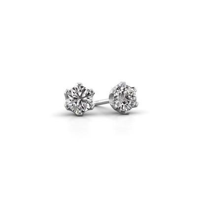 Oorstekers Fran 585 witgoud diamant 0.80 crt