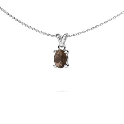 Picture of Necklace Lucy 1 950 platinum smokey quartz 7x5 mm