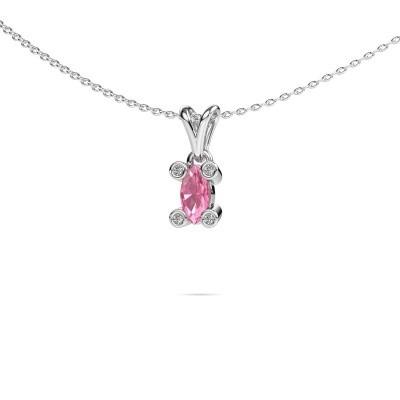 Picture of Necklace Cornelia Marquis 950 platinum pink sapphire 7x3 mm