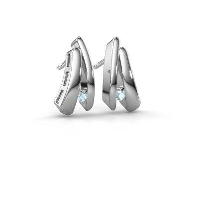 Picture of Earrings Liesel 925 silver aquamarine 2 mm