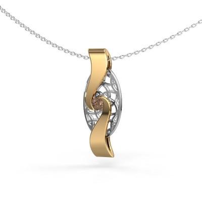 Bild von Anhänger Darleen 585 Gold Braun Diamant 0.10 crt