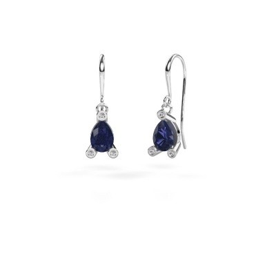 Picture of Drop earrings Bunny 1 950 platinum sapphire 7x5 mm
