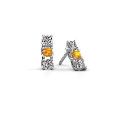 Picture of Earrings Fenna 925 silver citrin 3 mm
