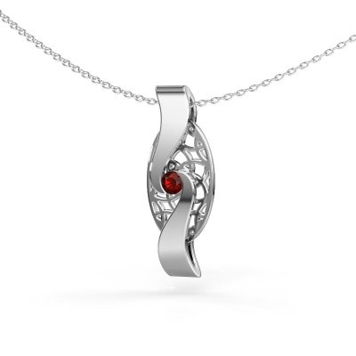 Picture of Pendant Darleen 585 white gold garnet 3 mm