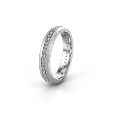 Trouwring WH0103L24BM 585 witgoud diamant 0.44 crt ±4x2 mm