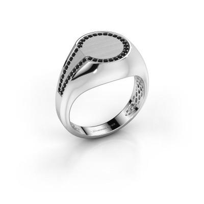 Foto van Heren ring Gijs 375 witgoud zwarte diamant 0.264 crt