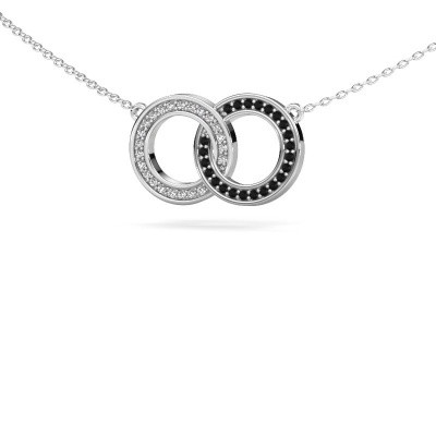 Picture of Necklace Circles 1 585 white gold black diamond 0.253 crt