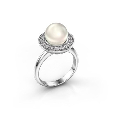 Foto van Ring Sarah 585 witgoud witte parel 9 mm