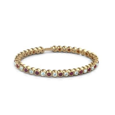 Foto van Tennisarmband Mellisa 375 goud rhodoliet 3.5 mm