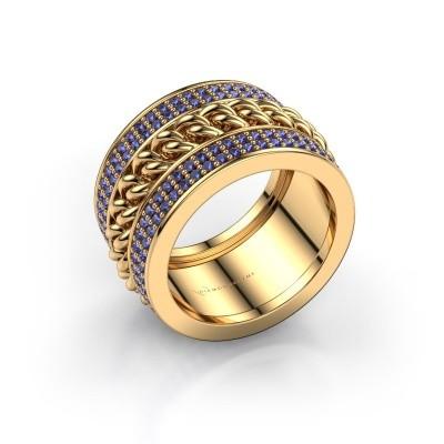 Foto van Ring Jayda 375 goud saffier 1.2 mm