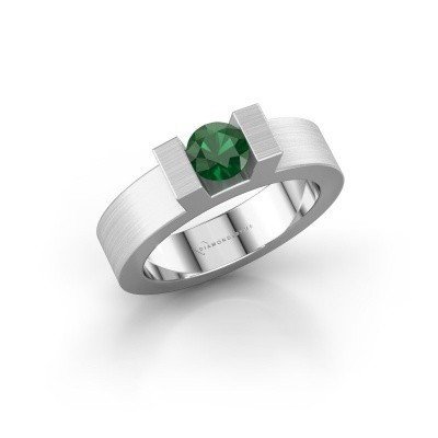 Picture of Ring Leena 1 585 white gold emerald 5 mm