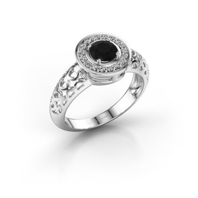Foto van Ring Katalina 950 platina zwarte diamant 0.72 crt