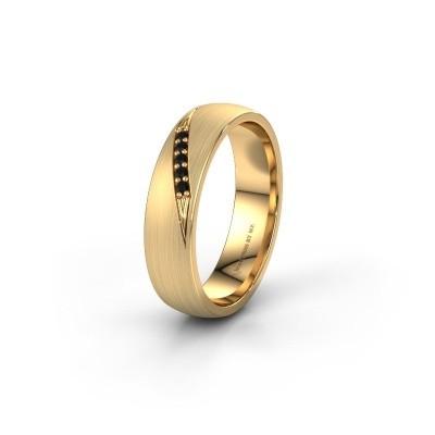 Trouwring WH2150L25AM 375 goud zwarte diamant ±5x1.7 mm