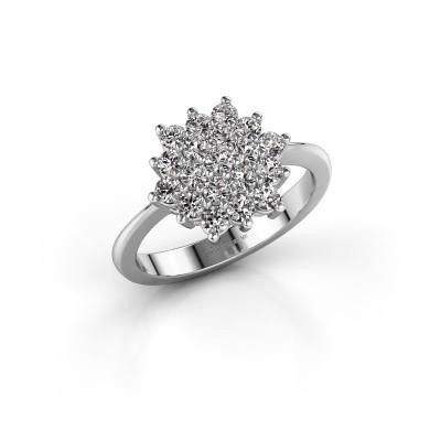 Verlovingsring Vickey 2 585 witgoud diamant 0.855 crt