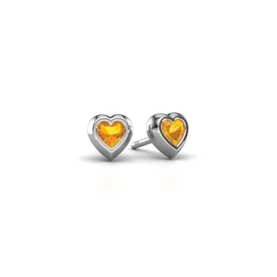 Picture of Stud earrings Charlotte 925 silver citrin 4 mm
