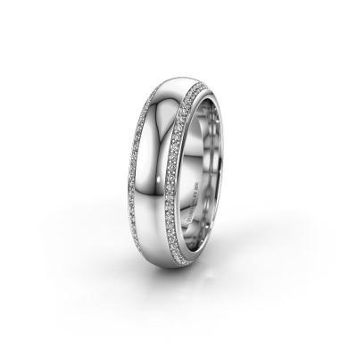 Trouwring WH6132L36C 585 witgoud diamant ±6x2.2 mm
