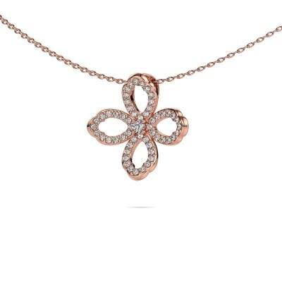 Picture of Necklace Chelsea 375 rose gold zirconia 2 mm