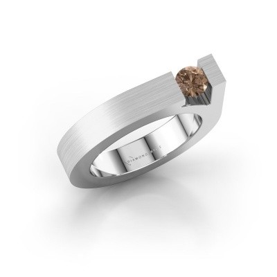 Picture of Ring Aisha 750 white gold brown diamond 0.30 crt