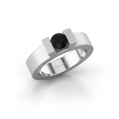 Foto van Ring Leena 1 925 zilver zwarte diamant 0.60 crt