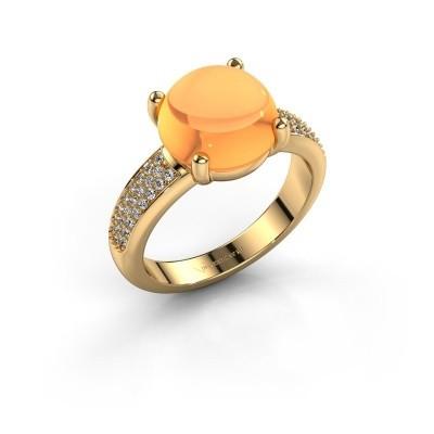 Foto van Ring Sophie 585 goud citrien 10 mm