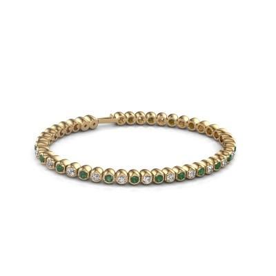 Foto van Tennisarmband Asley 375 goud smaragd 3 mm