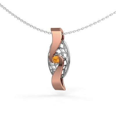 Picture of Pendant Darleen 585 rose gold citrin 3 mm