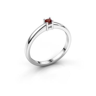 Foto van Promise ring Eline 1 925 zilver granaat 3 mm