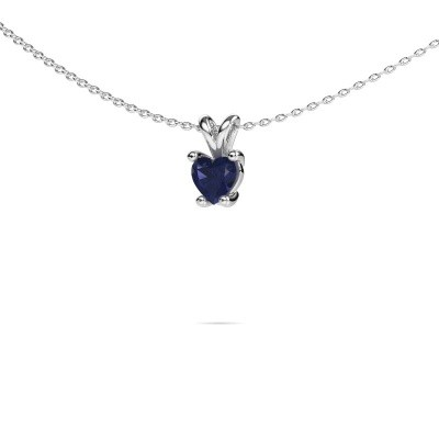 Picture of Necklace Sam Heart 950 platinum sapphire 5 mm