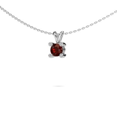 Picture of Pendant Fleur 950 platinum garnet 5 mm