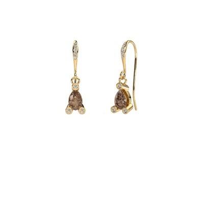 Bild von Ohrhänger Bunny 2 585 Gold Braun Diamant 1.375 crt