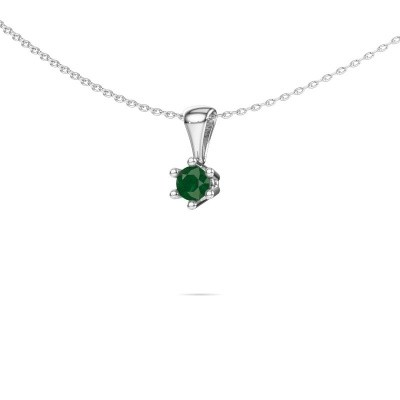 Picture of Necklace Fay 950 platinum emerald 4 mm