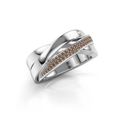 Foto van Ring Katherina 925 zilver bruine diamant 0.255 crt