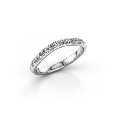 Foto van Aanschuifring SR20A6H 585 witgoud diamant 0.18 crt