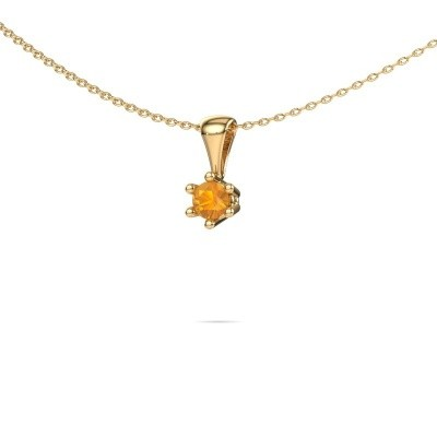 Picture of Necklace Fay 375 gold citrin 4 mm