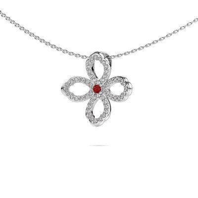 Picture of Necklace Chelsea 925 silver ruby 2 mm