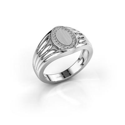 Foto van Pinkring Marinus 950 platina diamant 0.15 crt