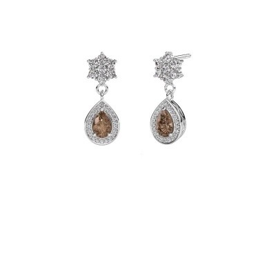 Picture of Drop earrings Era 585 white gold brown diamond 1.43 crt