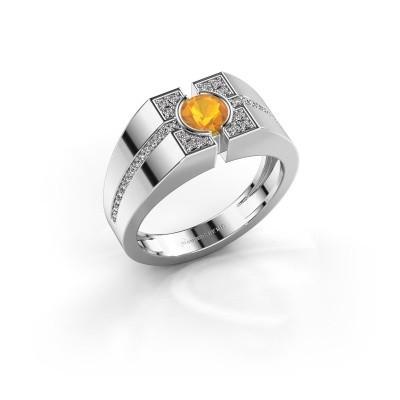 Foto van Herenring Thijmen 925 zilver citrien 5 mm