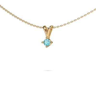 Picture of Necklace Jannette 375 gold blue topaz 3.7 mm