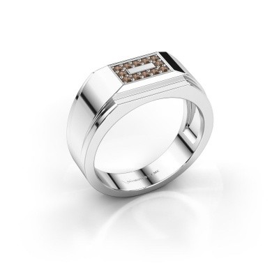 Foto van Heren ring Roan 925 zilver bruine diamant 0.18 crt