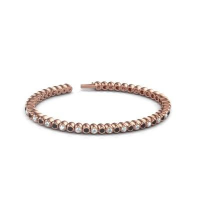Foto van Tennisarmband Patrica 750 rosé goud zwarte diamant 3.025 crt