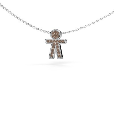 Picture of Pendant Boy 925 silver brown diamond 0.115 crt